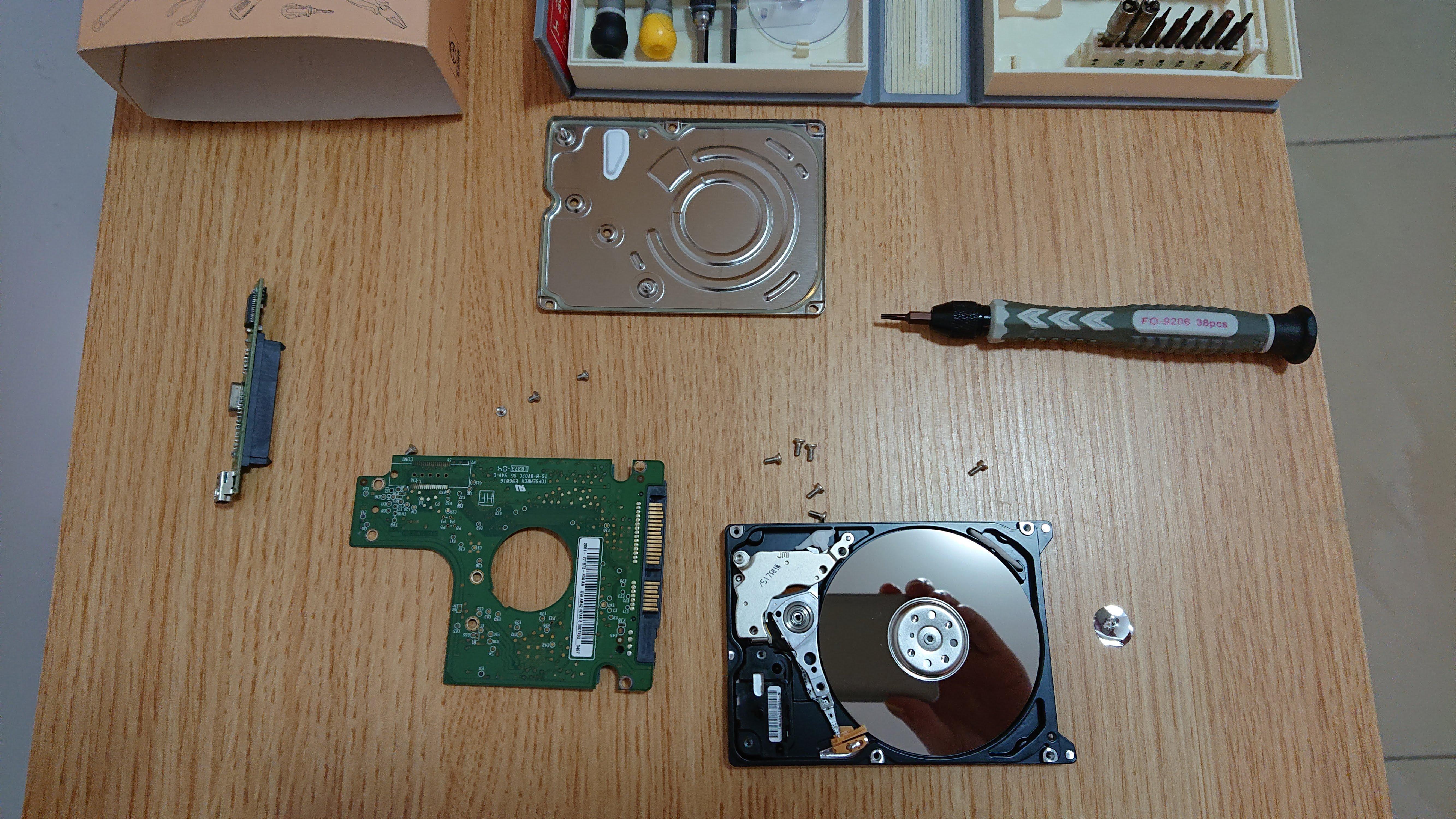 HDD 拆解中