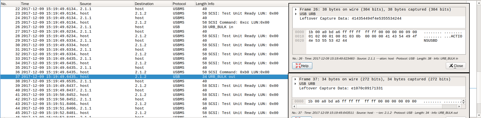 关键 SCSI 命令